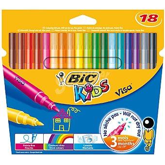 BIC Kids Visa Estuche con 18 rotuladores de colores