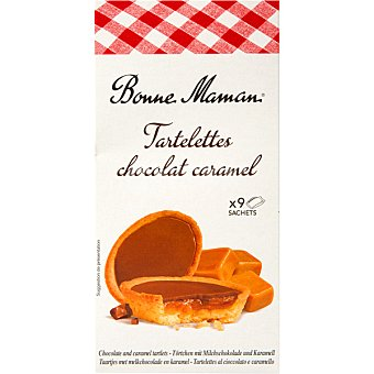 Bonne Maman Tartelettes rellenas de chocolate y caramelo  Estuche de 135 g
