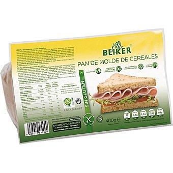 Beiker pan de molde de cereales sin gluten Envase 400 g