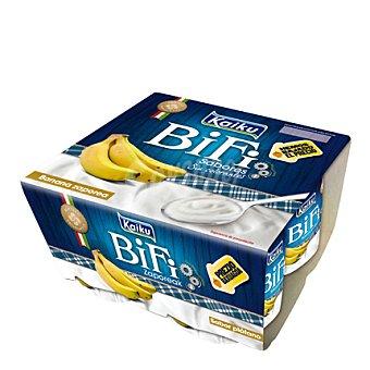 Kaiku Yogur Bio plátano Pack de 4x125 g