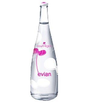 Evian Agua en botella de vidrio 75 cl