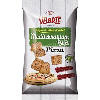 Velarte Mediterranium Bites snacks de pan sabor pizza con aove Bolsa 80 g
