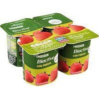 Eroski Yogur Biactive con fresas 4x125g