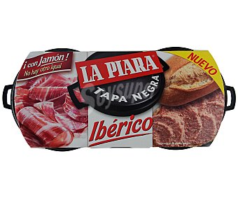 La Piara Tapa Negra paté de hígado de cerdo ibérico  pack 2 latas de 73 g