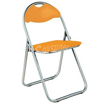 GFTC Silla plegable acolchada en color naranja