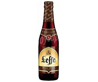 Leffe Cerveza negra Brune belga Botella 33 cl