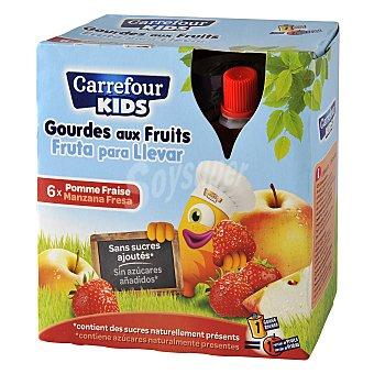 Carrefour Kids Fruta para llevar 6 unidades de 90 g