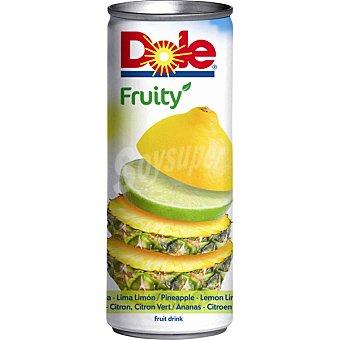 DOLE Fruity Zumo de piña, lima y limón lata 25 cl Lata 25 cl