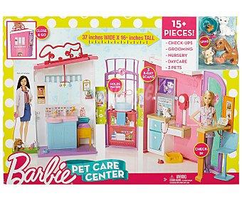 BARBIE Clínica de mascotas Escenario de juego Clínca de mascotas con accesorios, barbie