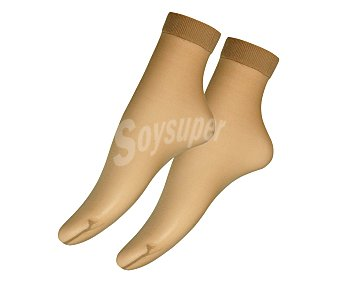 MARIE CLAIRE Pack de 2 pares de calcetines finos tobilleros de verano 10 den Pack de 2