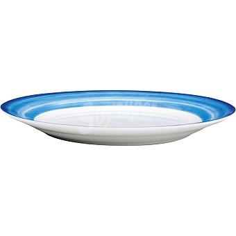 CASACTUAL Strippes Plato Llano en color azul 27 cm