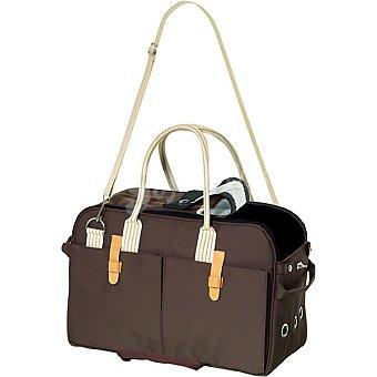 Karlie bolso transportín para mascotas color marrón medidas 45x21x30 cm 1 unidad
