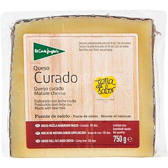 El Corte Inglés Queso curado mezcla elaborado con leche cruda cuña 750 g