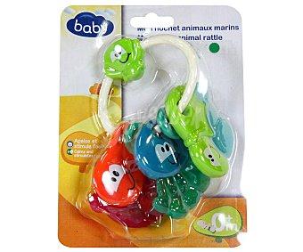 Baby Mordedor-Sonajero de Animales del mar 1 Unidad