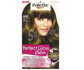 PALETTE GLOSS COLOR Tinte color Rubio Oscuro Nº 600, sin amoníaco 1 Unidad
