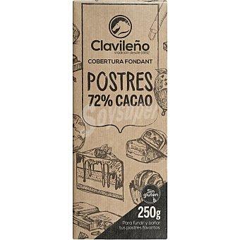 Clavileño Chocolate negro 70% especial postres sin gluten 250 g