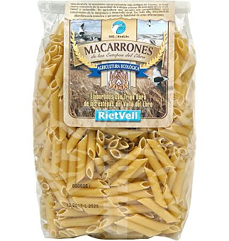 Macarrones riet vell ecologicos 500 GRS