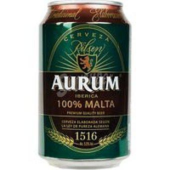 Aurum Cerveza 100% Malta Lata 33 cl