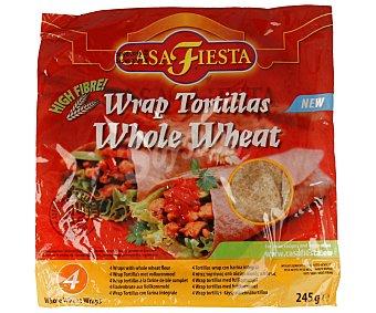 Casa Fiesta Tortillas con harina integral mejicanas 4 unidades (245 g)