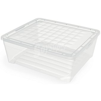 Unit Textilebox caja de plastico transparente con tapa