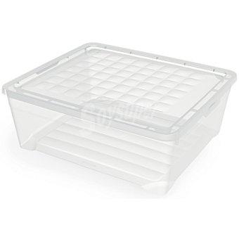 UNIT Textilebox Caja de plástico transparente con tapa
