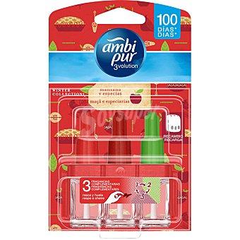 AMBIPUR 3VOLUTION ambientador eléctrico Apple & Spice 3 fragancias complementarias recambio