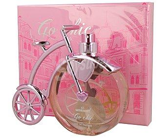 Go chic Colonia para mujer con forma de bicicleta de color rosa 100 ml