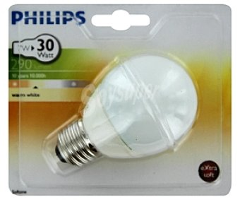 Philips Bombilla 7W E27 BL1 ahorro mini esferica