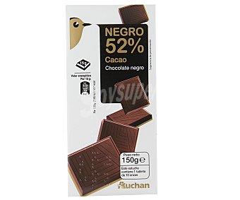 Auchan Tableta chocolate fondant extrafino 52% 150 gramos