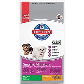 HILL'S SCIENCE PLAN PUPPY Small y Miniature Nutrición avanzada para cachorros de raza mini y miniatura con pollo Bolsa 300 g