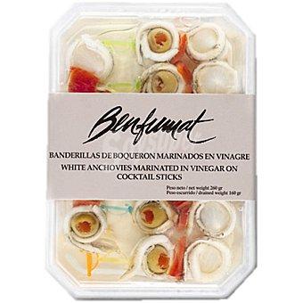 Benfumat Banderillas de boquerón marinados en vinagre Bandeja 160 g