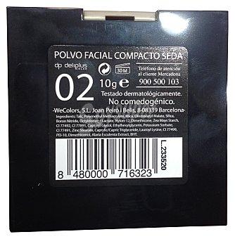 Deliplus Polvos compactos faciales seda Nº 02 1 unidad