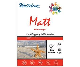 WRITELINE Papel foto Matte A4 165 Gramos 165 Gramos