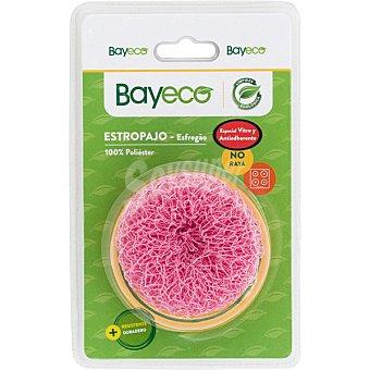 Bayeco Estropajo 100% poliester especial vitro verde no raya sustituye al de acero envase 1 unidad