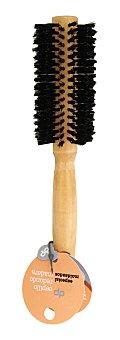 Deliplus Cepillo cabello redondo madera u