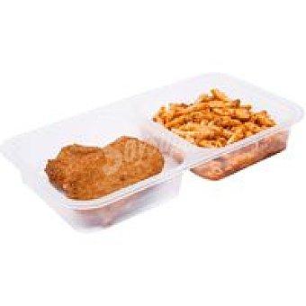 ARTESANOS Macarrones-libritos de jamón-queso Bandeja 350 g