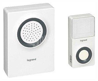 LEGRAND Kit de Timbre Inalámbrico, Funcionamiento a Pilas o con Corriente Eléctrica 8V Sonoridad de 60 dB a 1 Metro 1 Unidad