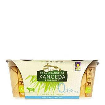 Casa Grande de Xanceda Yogur cremoso ecológico desnatado natural Pack de 2x125 g