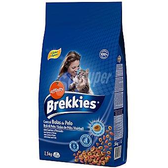 AFFINITY BREKKIES EXCEL COMPLET Control bolas de pelo alimento completo para gato con carne y pescado bolsa 1,5 kg Bolsa 1,5 kg