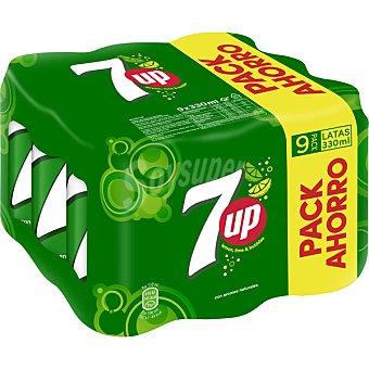 7Up Refresco de lima limón pack 9 latas 33 cl Pack 9 latas 33 cl