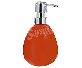 WENKO Dosificador de jabón gel, modelo Polaris, fabricado en cerámica, color naranja 1 Unidad