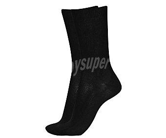 IN EXTENSO Pack de 2 pares de calcetines clásicos canalé, color marino, talla 39/42 Pack de 2