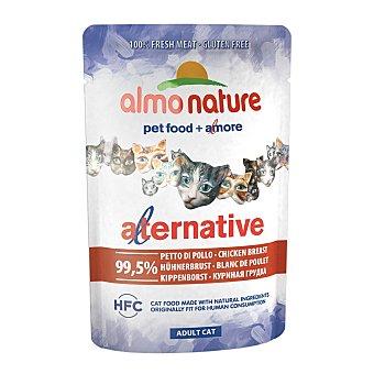 Almo Nature Alternative alimento húmedo para gatos adultos con pechuga de pollo Envase 55 g