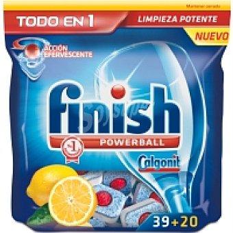 FINISH CALGONIT Lavavajillas máquina Todo en 1 limón Caja 39 dosis + 50