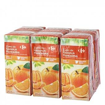 Carrefour Zumo de naranja y mandarina Carrefour Pack de 6 briks de 20 cl