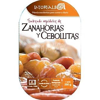 La Torralba Salteado de zanahoria y cebollitas refrigerado Envase 250 g