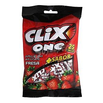 Clix Chicles fresa one bolsa 25 uds 25 ud