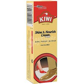 KIWI Limpia calzado crema incoloro sin aplicador nutre protege y da brillo tubo 75 ml