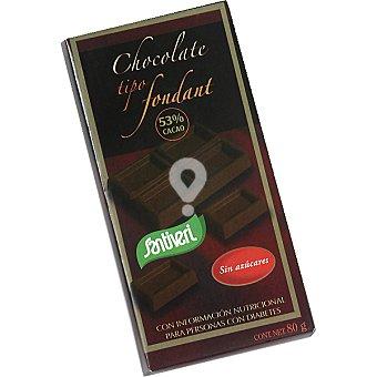 Chocolate tipo fondant sin azúcar