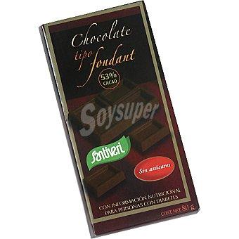 Santiveri Chocolate tipo fondant sin azúcar Envase 80 g